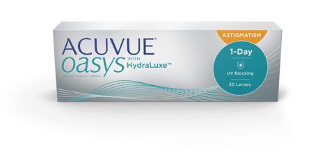 ACUVUE® OASYS 1-DAY with HydraLuxe™ for ASTIGMATISM